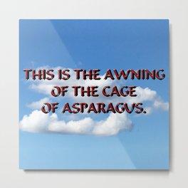 Cage of Asparagus Metal Print
