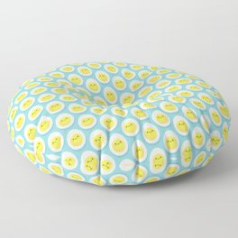 Cute hard boiled eggs Floor Pillow