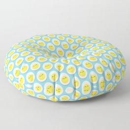 Cute hard boiled eggs Floor Pillow