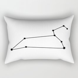 Leo Star Sign Black & White Rectangular Pillow