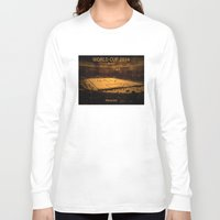 world cup Long Sleeve T-shirts featuring World Cup 2014: Maracanã by Thomas Campos
