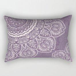 Mandala Tulips in Lavender ad Cream Rectangular Pillow