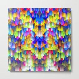 Colorful digital art splashing G395 Metal Print
