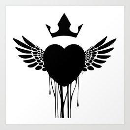 ink heart Art Print
