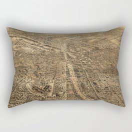 Vintage Pictorial Map of Syracuse NY (1868) Rectangular Pillow