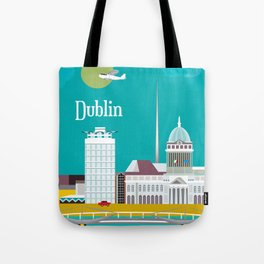 Dublin, Ireland - Skyline Illustration by Loose Petals Tote Bag