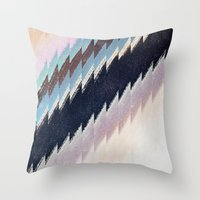 mirror Throw Pillows featuring mirror by spinL