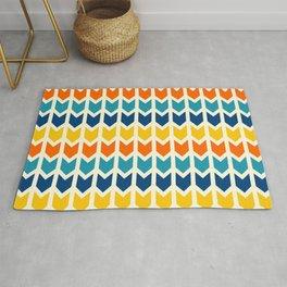 Boho colorful geometric arrows pattern Rug
