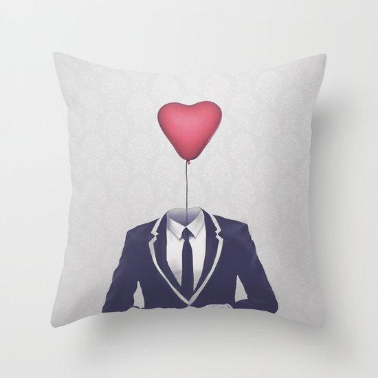 Mr. Valentine Throw Pillow