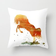 HORSES -Wild mountain pony Throw Pillow