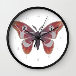 free spirit ghost (made up moth) Wall Clock