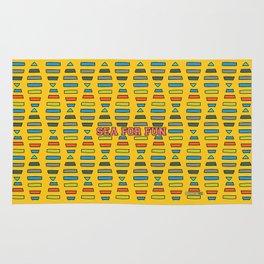 Sea for fun (yellow) Rug