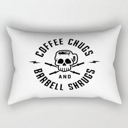 Coffee Chugs And Barbell Shrugs v2 Rectangular Pillow