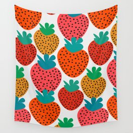 Funny strawberries Wall Tapestry