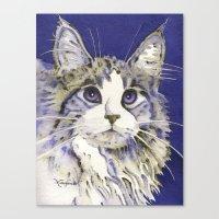 monty python Canvas Prints featuring Monty by Cat Art by Lori Alexander
