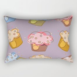 Muffins - pattern Rectangular Pillow