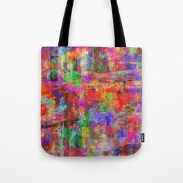 Vibrant Chaos - Mixed Colour Abstract Tote Bag