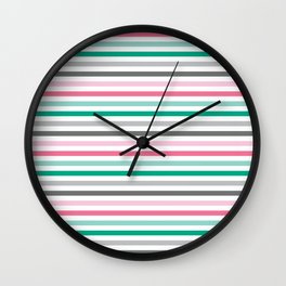 Colorful stripes Wall Clock