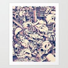 Skull Settlements Art Print