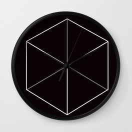 D6, Black Wall Clock