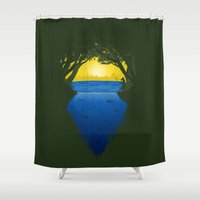 brasil Shower Curtains featuring Brasil by Yuri Lobo