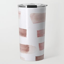 24  | 181101 Watercolour Palette Abstract Art | Lines | Stripes | Travel Mug