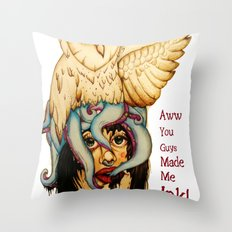 ink text Throw Pillow