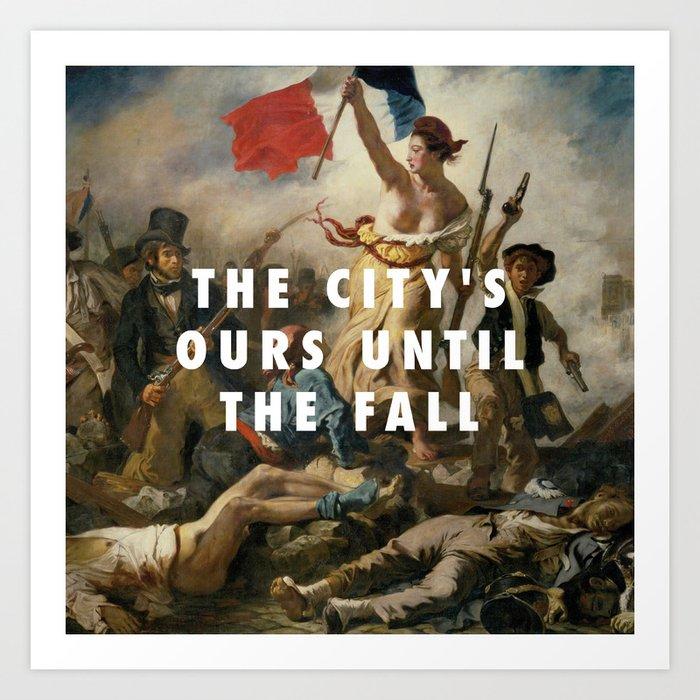 Eugène Delacroix, Liberty Leading the People (1830) / Halsey, New Americana (2015) Kunstdrucke