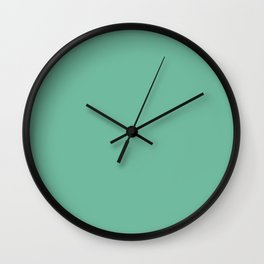 Dunn & Edwards 2019 Curated Colors Arboretum (Dark Mint Green) DE5690 Solid Color Wall Clock