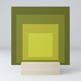 Block Colors - Yellow Green Mini Art Print