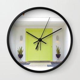 Lime Door Palm Springs Wall Clock