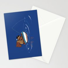 Bear Fishing Stationery Cards
