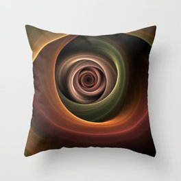 Fractal Depth And Warmth Throw Pillow