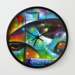 Psychedelic Eyes  Wall Clock
