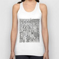 barcelona Tank Tops featuring Barcelona  by Michaella Fortune