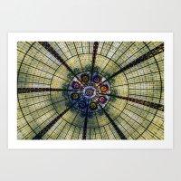 kaleidoscope Art Prints featuring Kaleidoscope   by Laura George