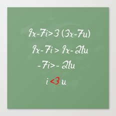 Math love Canvas Print