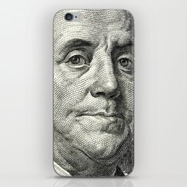 cash money old Ben 100 bucks dollars  us currency  in God we Trust iPhone Skin