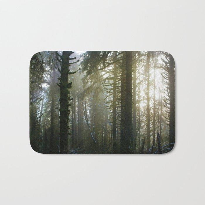 Foggy Forest #evergreen Bath Mat