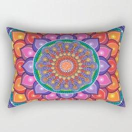 Lotus Rainbow Mandala Rectangular Pillow