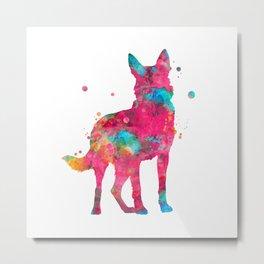 Colorful German Shepherd Metal Print