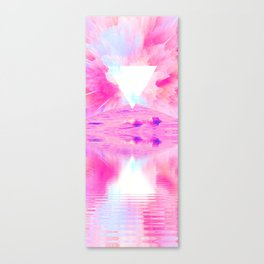 Pink Swimming Pool by GEN Z Canvas Print