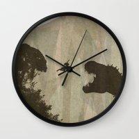 tomb raider Wall Clocks featuring Tomb Raider by s2lart