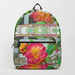 TROPICANA ROSE ON WHITE LATTICE Backpack