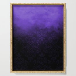 Purple Cloudy Damask Serving Tray