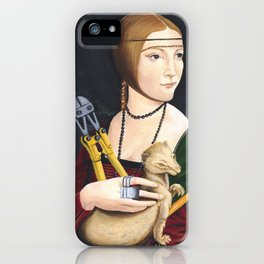 Lady with Liberated Ermine iPhone Case