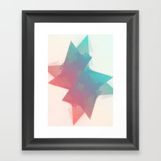 abstract star Framed Art Print
