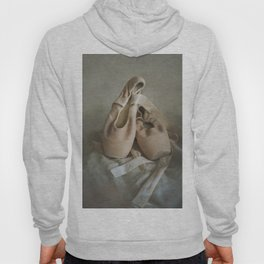 Creamy pointe ballet shoes Hoody