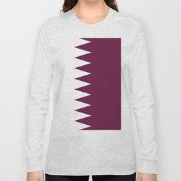 Quatar flag emblem Long Sleeve T-shirt