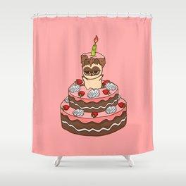 Happy BirthDay food  cake Shower Curtain